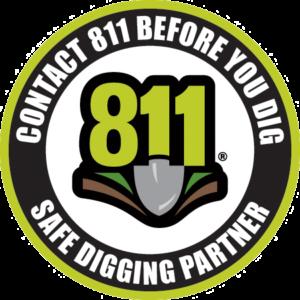 Safe Digging Partner Decal - 2.5